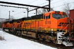 BNSF 6115 trailing on K138
